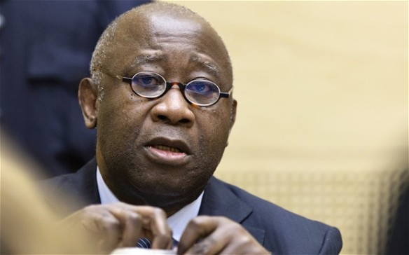 Laurent Gbagbo at the ICC, photo: Telegraph