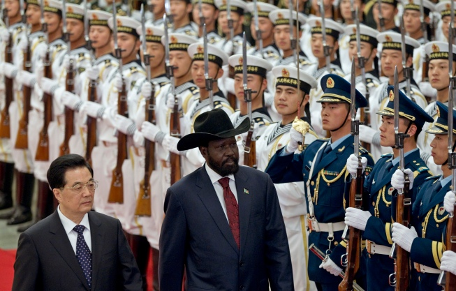 China's former President Hu Jintao with South Sudan President Salva Kiir, photo credit: Washington Post
